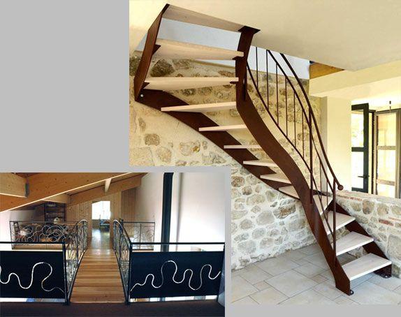 Escalier et garde corps métallique